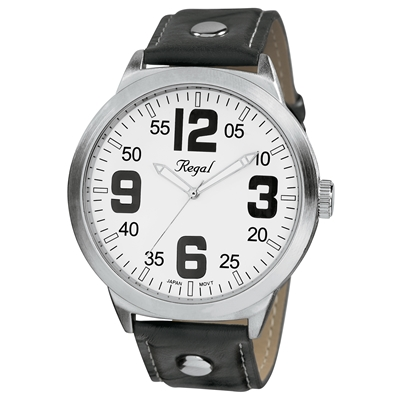 Regal horloge XL zwart/wit R23804-167 (1006138)