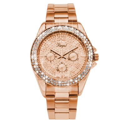 Regal horloge Glitter rose R1349R-622 (1019340)