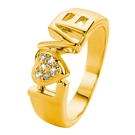 Eve gold plated ring love met zirkonia