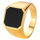 Gold plated herenring onyx