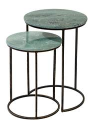 VERDA Tables d'appoint set de 2