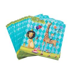 ANIMALS GARDEN Set de 20 serviettes