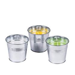 BUCKET Bougies citronnelle set de 3