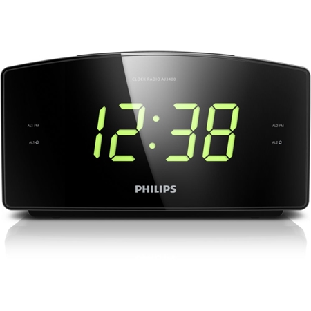 Philips AJ3400/12 zwart Wekkerradio