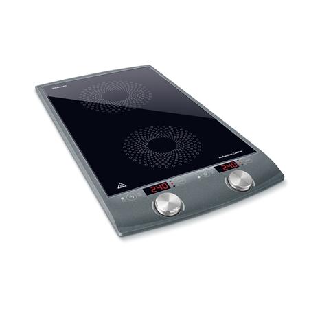 Sencor SCP4202GY zwart-zilver Inductie Kookplaat