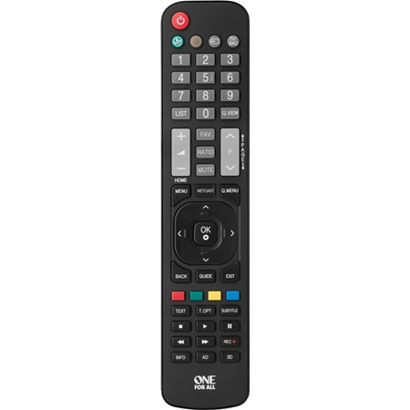 One for All vervangende afstandsbediening voor LG zwart