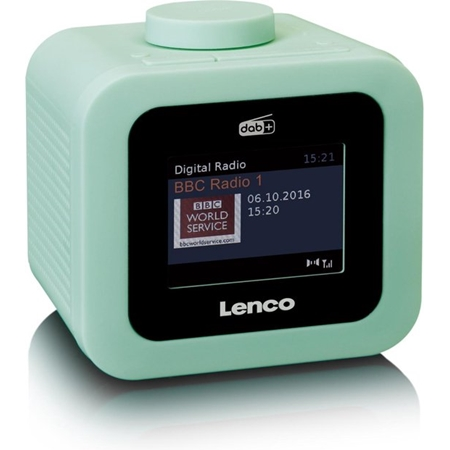 Lenco CR-620 Wekkerradio met DAB+ en AUX-uitgang Groen online kopen