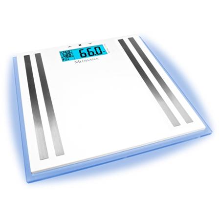 Medisana ISA personenweegschaal met lichaamsanalysefunctie wit-zilver