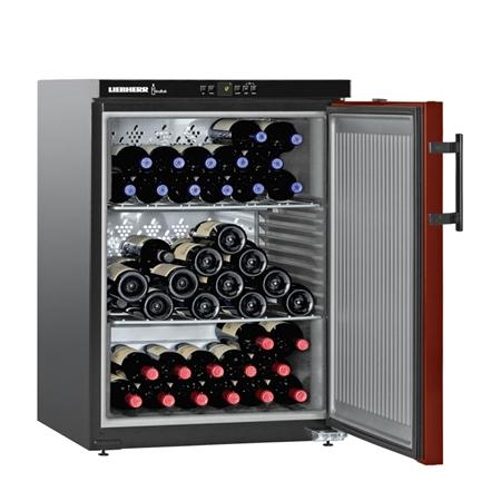 Liebherr WKr 1811-21 Vinothek Wijnklimaatkast Matzwart/Bordeauxrood