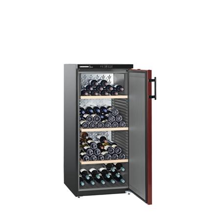 Liebherr WKr 3211-21 Vinothek Wijnkoelkast Matzwart/Bordeauxrood
