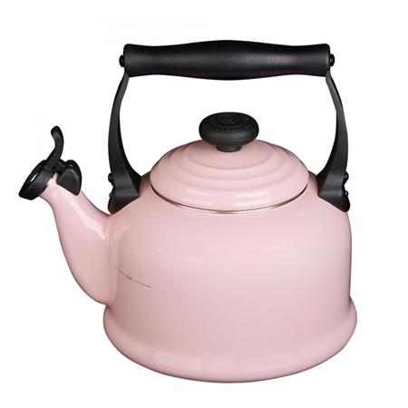 Le Creuset Fluitketel Tradition (2.1 liter) Chiffon Pink