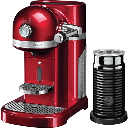KitchenAid Artisan 5KES0504ECA/3 Nespressomachine met Aeroccino Appelrood