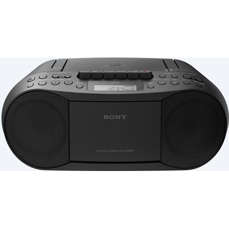 Sony CFD-S70B CD-cassette speler zwart