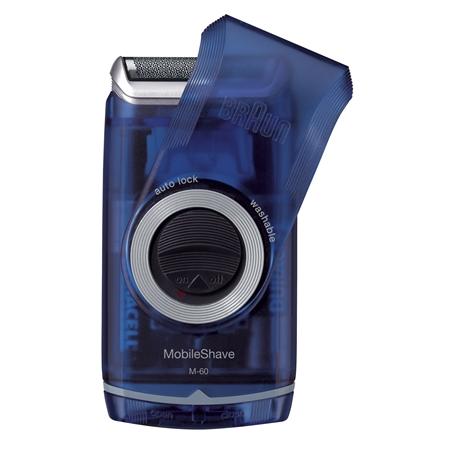 Braun Pocket M60 transparent bleu Scheerapparaat