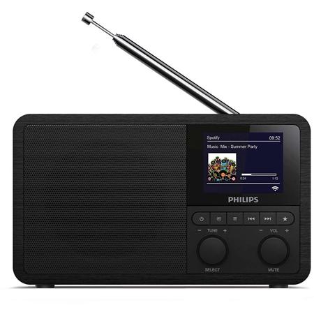 Philips TAPR802 Internetradio met DAB+ zwart