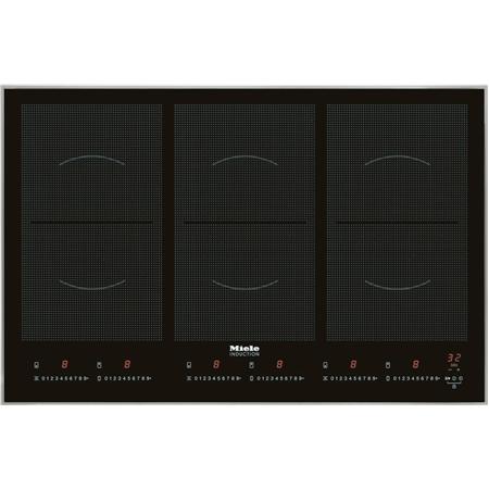 Miele KM 6366 Powerflex zwart-RVS Inductie Kookplaat