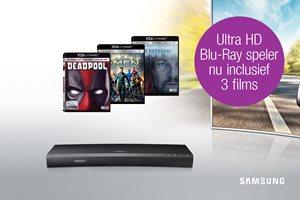 Samsung UHD Blu-Ray speler met filmpakket