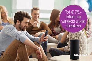 Tot 75,- retour op wireless speakers