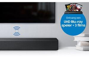 Samsung Dolby Atmos - gratis UHD Blu-ray speler + 3 films