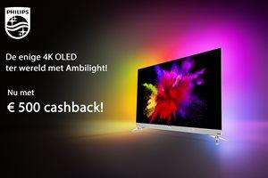 Philips 55POS901F OLED TV 500,- cashback!