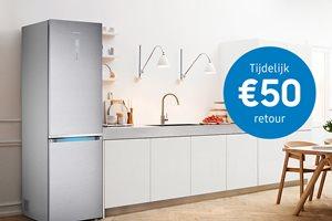 Samsung koel-vriescombinatie met 50,- euro cashback