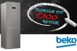 Beko No Frost tot 100,- euro retour