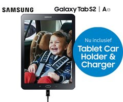 Samsung Galaxy Tab A/S2 met gratis Car Holder & Charger!