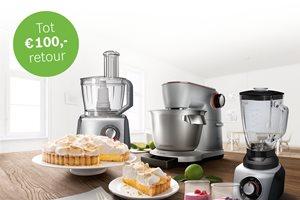 Tot 100,- euro retour op Bosch keuken, food en blenders