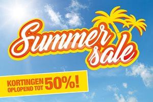 Zomerse summerdeals tot wel 50% korting!