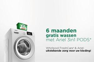 6 maanden gratis wassen met Ariel 3in1 PODS cadeau