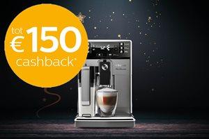 Philips Saeco tot 150,- euro cashback