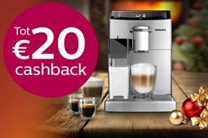 Philips espressomachine tot 50,- euro cashback