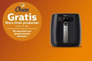 Philips Airfryer met gratis Mora Oven snacks cadeau