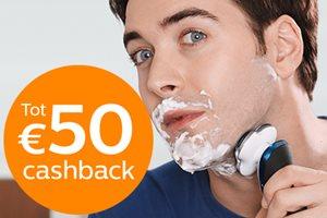 Philips scheerapparaat tot 50,- euro cashback