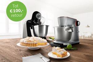 Bosch keukenmachine tot 100,- euro retour