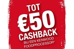 Kenwood Foodprocessor tot 50,- euro cashback