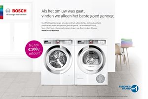 Bosch wasmachine en droger tot 100,- euro retour