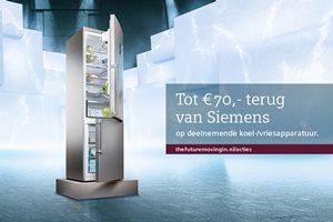 Siemens Koelen en Vriezen tot 70,- euro retour