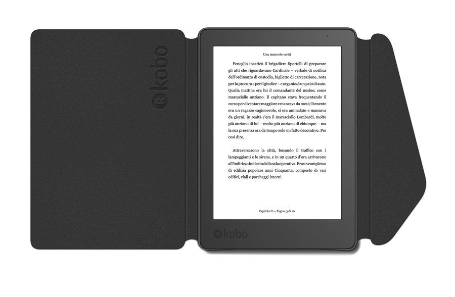 Kobo Aura 2nd Edition Sleep Cover Case zwart 5