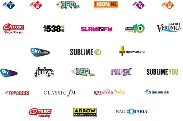 Beschikbare DAB zenders Nederland