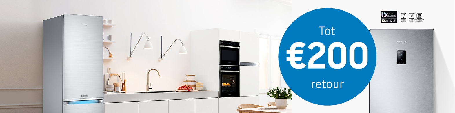 Tot 200,- euro retour | Samsung koel-vriescombinaties en Amerikaanse koelkasten | EP.nl