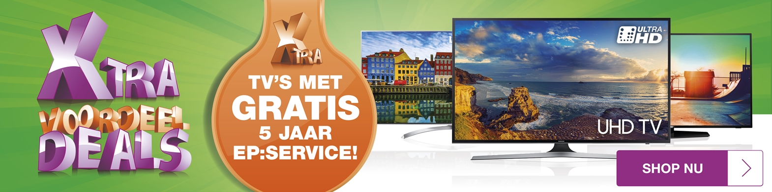 tv's met gratis serviceplan