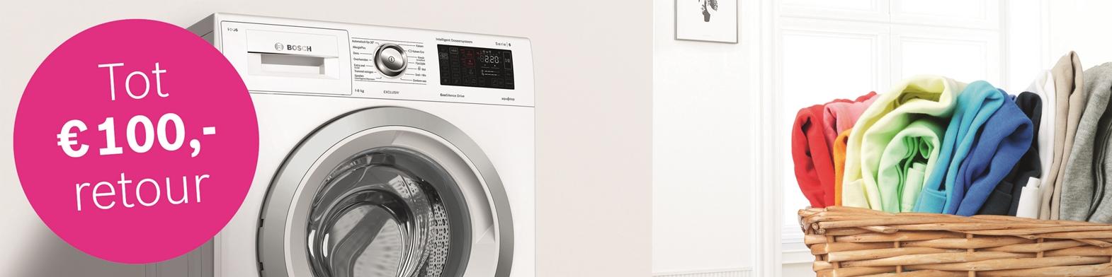 Bosch i-DOS Wasmachine tot 100,- euro retour