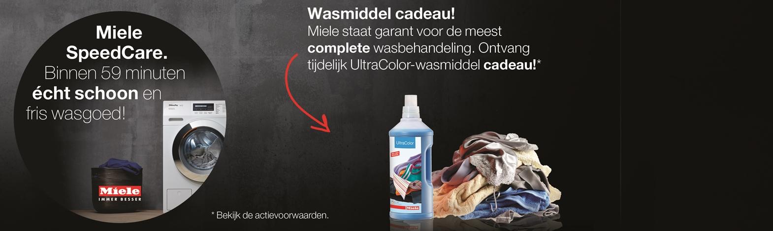 UltraColor-wasmiddel cadeau | Miele SpeedCare wasmachine | EP.nl