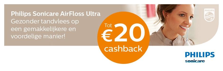 Philips Sonicare AirFloss tot 20,- euro cashback