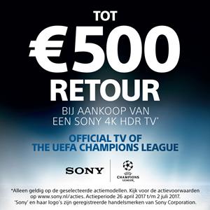 Sony 4K TV - tot 500,- cashback!