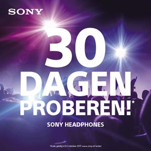 sony headphones - 30 dagen op proef