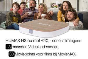 Nu 40,- serie-/film tegoed bij Humax H3