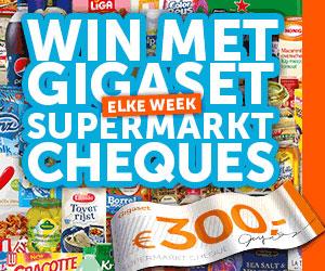 Win met Gigaset een supermarkt cheque t.w.v. 300,-