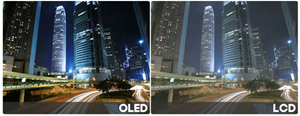 contrast oled tv's